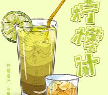 純天然檸檬汁海報PSD素材