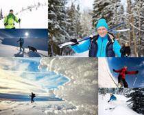 滑雪运动国外人物摄影高清图片