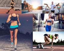 跑步的健身人物摄影高清图片