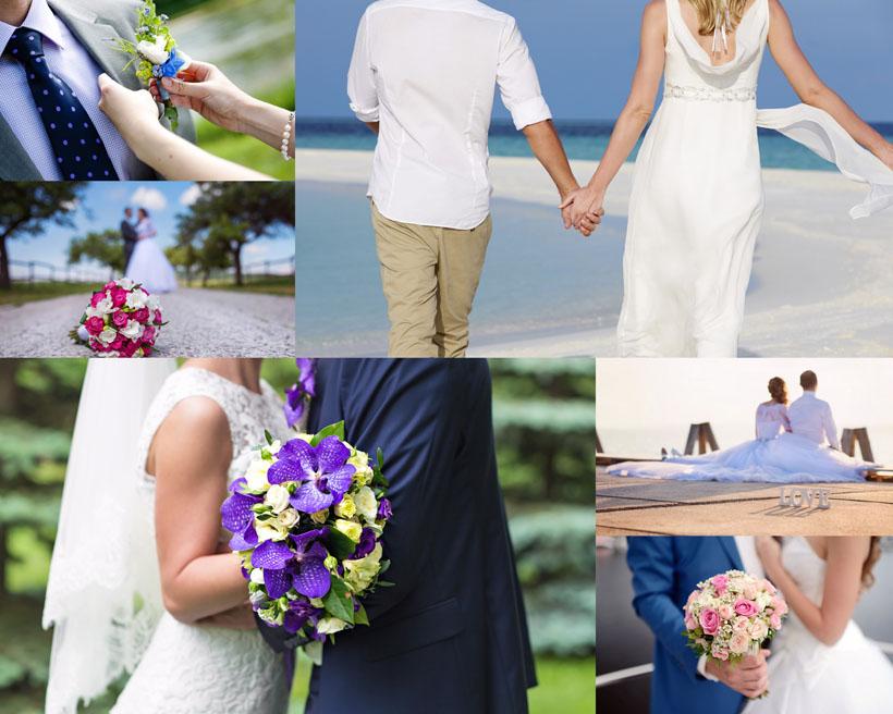 浪漫夫妻婚紗攝影高清圖片