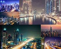 美麗的夜景城市風光拍攝高清圖片