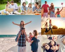 开心快乐家庭人物拍摄高清图片