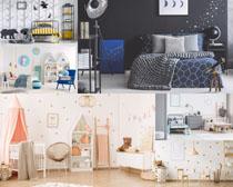 室内儿童房布置摄影高清图片