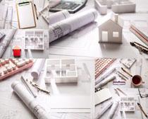 图纸模型建筑摄影高清图片