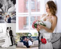 亲吻婚纱写真拍摄高清图片
