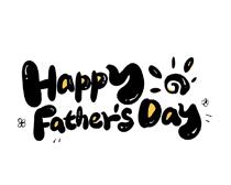 父亲节快乐字体设计PSD素材