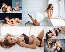 國外內衣女模特寫真攝影高清圖片