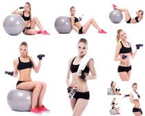 健身國外女子攝影高清圖片