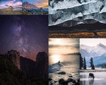 夜色星空风景拍摄高清图片