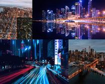 漂亮的城市夜景風光拍攝高清圖片