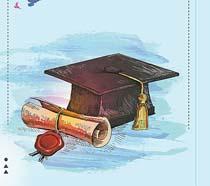 毕业季绘画展示PSD素材