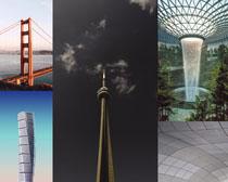 橋梁建筑塔風景攝影高清圖片