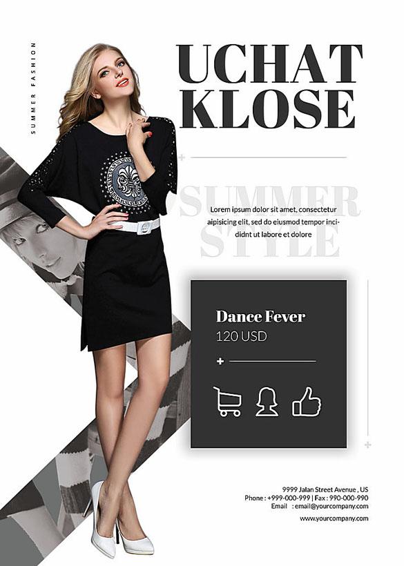 欧美女装封面广告PSD素材