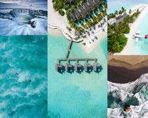 藍色海洋休閑風景攝影高清圖片