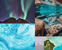 石頭與星空美景拍攝高清圖片