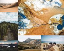 沙漠山峰景色攝影高清圖片
