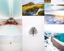 美麗雪景風光拍攝寫真高清圖片