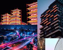 城市夜色建筑風光拍攝高清圖片