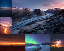 夕陽風光景色寫真拍攝高清圖片