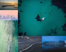 湖水美麗風光拍攝高清圖片