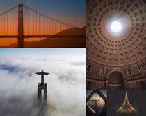 國外塑像建筑塔攝影高清圖片