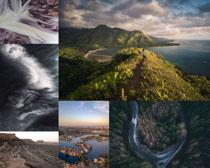 山峰海島云朵景色攝影高清圖片