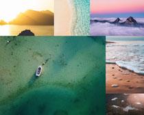 海灘大海美景拍攝高清圖片