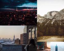 高樓建筑城市景觀拍攝高清圖片