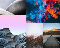 色彩背景建筑景觀拍攝高清圖片