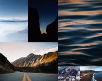 高山道路風光拍攝高清圖片