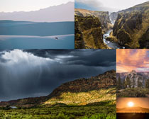 山間云霧景觀拍攝高清圖片