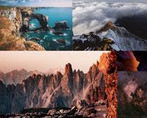 高山石巖風光拍攝高清圖片