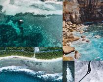 大海石崖景觀拍攝高清圖片