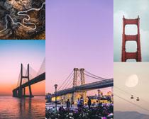 國外橋梁建筑景觀拍攝高清圖片