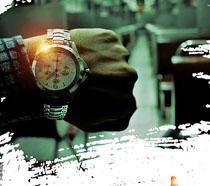 时间效益企业文化海报PSD素材