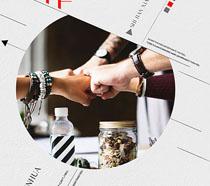 团队合作企业海报PSD素材