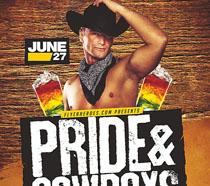 西部牛仔男士啤酒节海报PSD素材