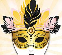時尚面具設計海報PSD素材