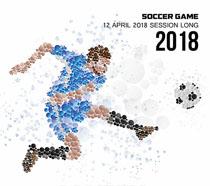 足球比赛创意海报PSD素材