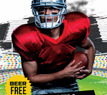 橄榄球比赛海报PSD素材
