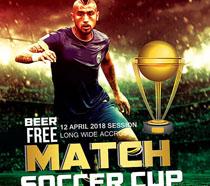 足球运动比赛海报PSD素材