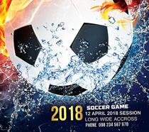 足球大型封面海报PSD素材