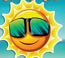 微笑太阳海报设计PSD素材