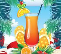 夏日饮料大派对海报PSD素材