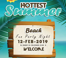 沙滩木牌宣传海报PSD素材