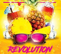 菠萝饮料夏日海报PSD素材