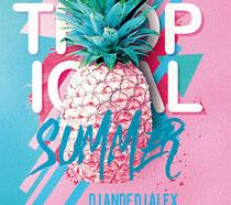 夏日封面菠萝海报PSD素材