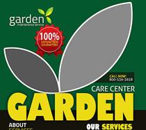 花园景观宣传海报PSD素材