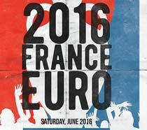 2016欧洲杯宣传单海报PSD素材