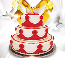 漂亮的生日蛋糕海报PSD素材
